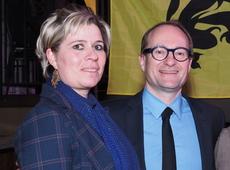 Bianca Maas, samen met minister Ben Weyts
